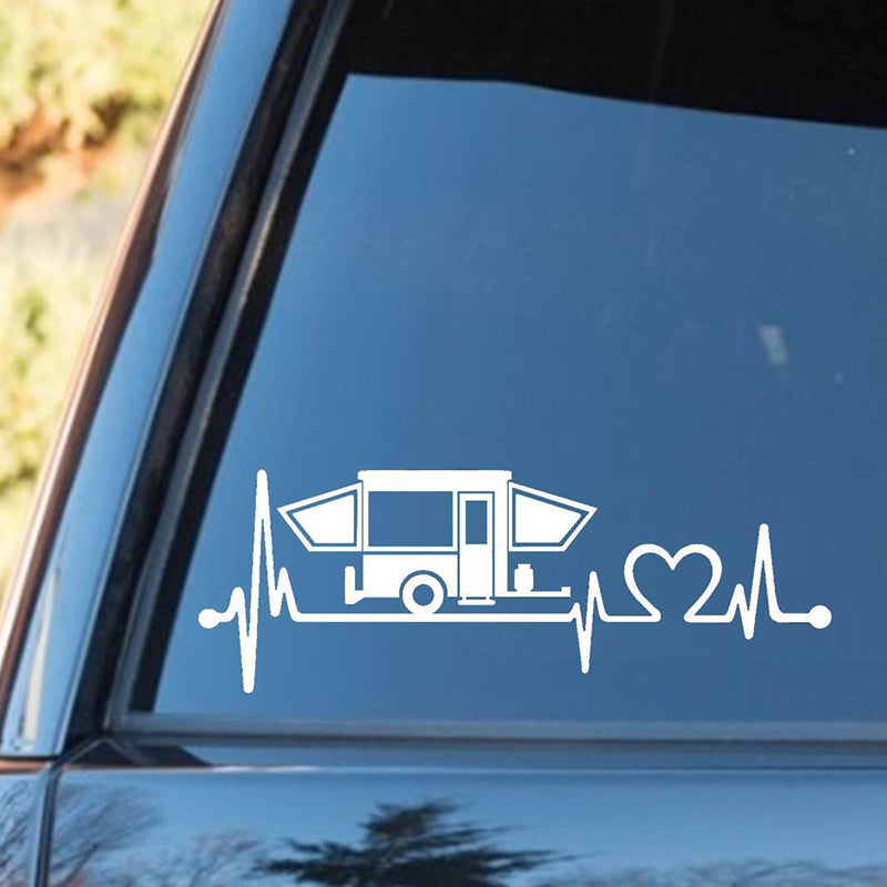 Pop Up Camper Travel Trailer Heartbeat Decal