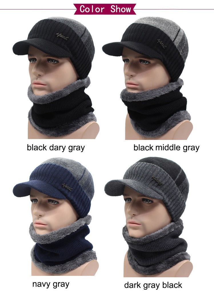 a4d7f209 Winter Beanie Hat with matching Wool Scarf