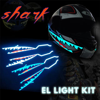 Shark Style Motorcycle Helmet Safety LED Night Lights