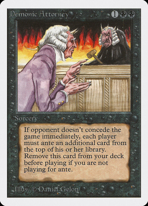 Demonic Attorney [Unlimited Edition] - Evolution TCG | Evolution TCG