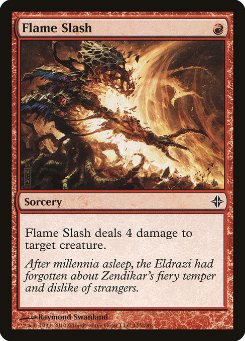 Flame Slash [Rise of the Eldrazi] | Evolution TCG