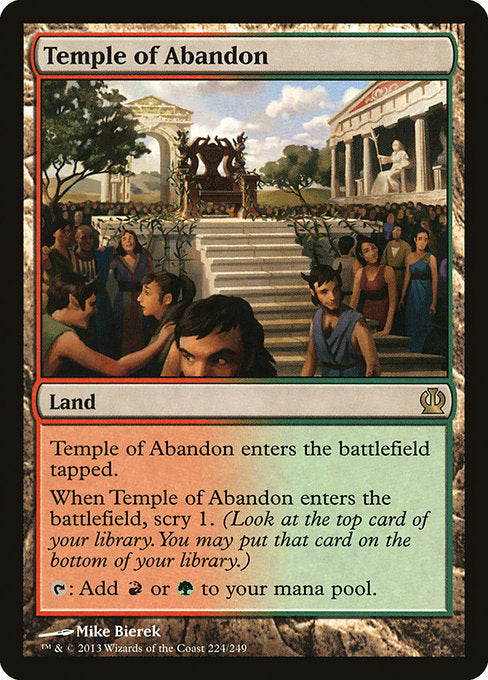 Temple of Abandon [Theros] - Evolution TCG | Evolution TCG