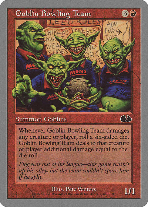 Goblin Bowling Team [Unglued] - Evolution TCG | Evolution TCG