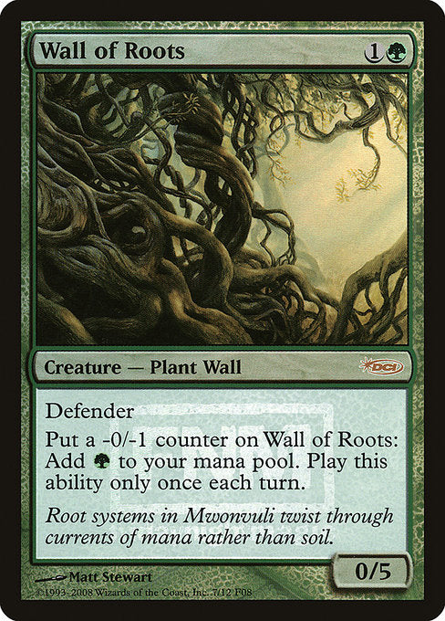 Wall of Roots [Friday Night Magic 2008] - Evolution TCG | Evolution TCG