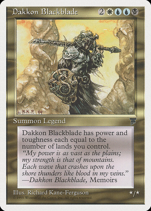 Dakkon Blackblade [Chronicles] - Evolution TCG | Evolution TCG