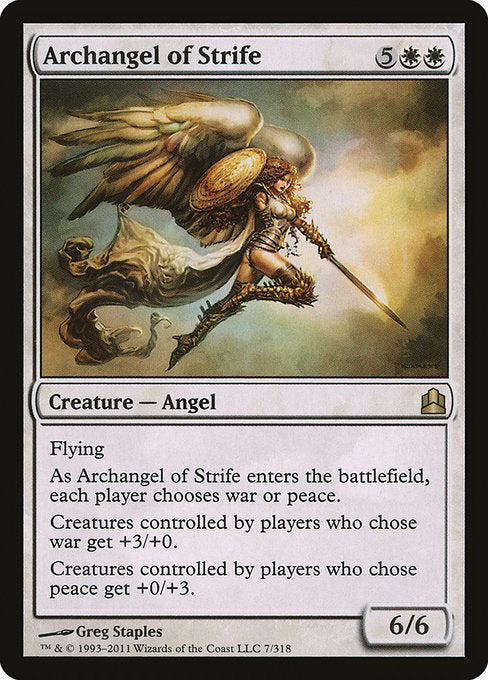 Archangel of Strife [Commander 2011] - Evolution TCG | Evolution TCG
