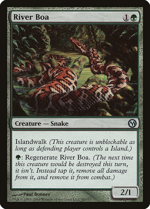 River Boa [Duels of the Planeswalkers] - Evolution TCG | Evolution TCG