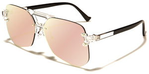 Rimless Aviator Unisex Glasses