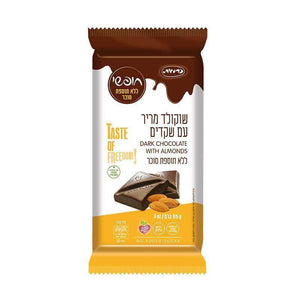 Taste Of Freedom Gluten-Free Dark Chocolate With Almonds 85 grams Pack of 18 FREE SHIPPING