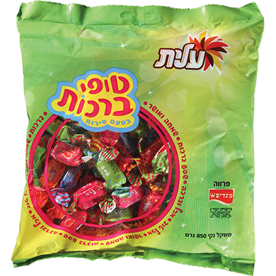 Elite Fruit Flavor Toffy Brachos 850 grams Pack of 4