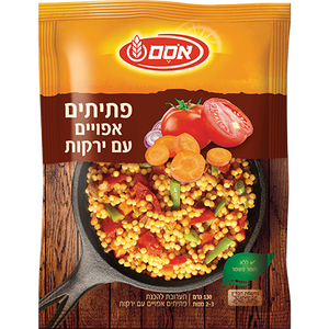 Osem Baked Pasta Couscous With Vegetables Instant Dish 130 grams Pack of 10