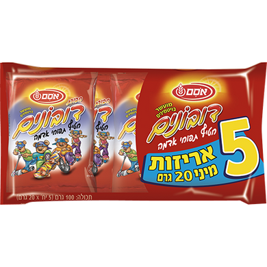 Osem Dubonim Potato Snacks (5 units/pack)- 100 grams Pack of 6