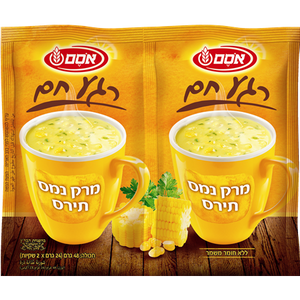 Osem Corn Instant Soup (2 Per Pack 48 grams) Pack of 6
