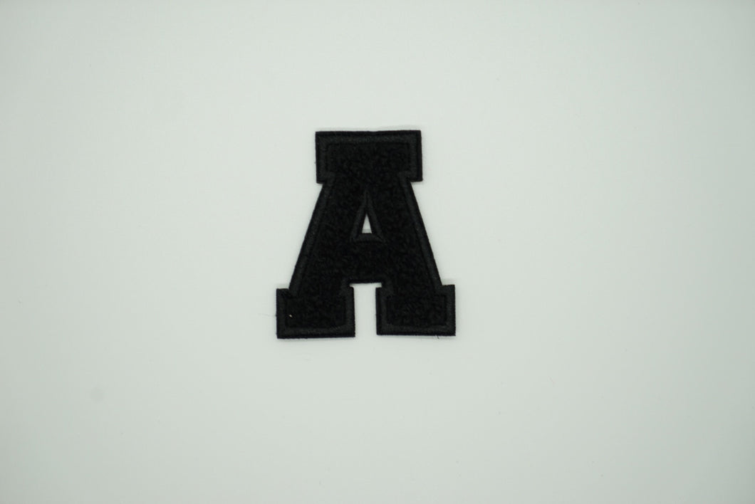 Chenille Black Letter Patch