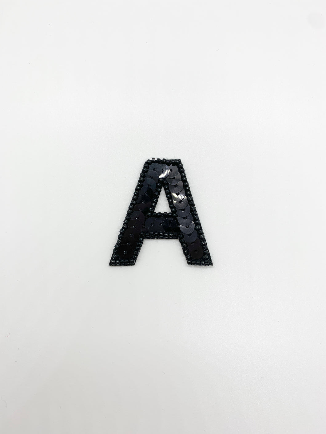 Black Sequin Letter Patch