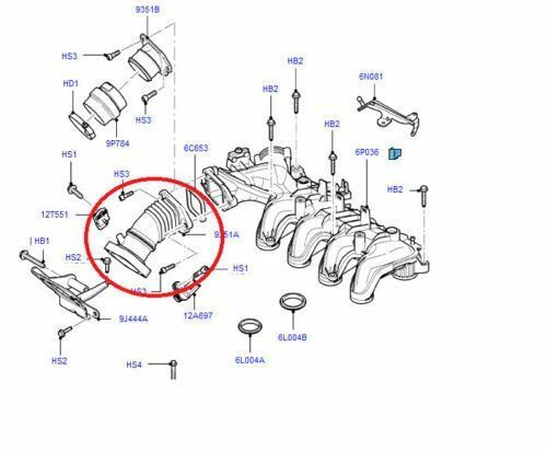FORD FOCUS CMAX 1.6 TDCI AIR INLET MANIFOLD TURBO HOSE
