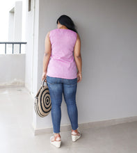 Load image into Gallery viewer, Purple Khaadi Cotton Sleeveless Shell Top