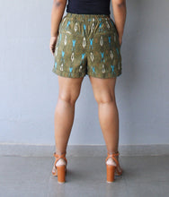 Load image into Gallery viewer, Olive Green Blazer Shorts Set