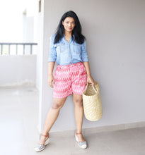 Load image into Gallery viewer, Pink Ikat Shorts