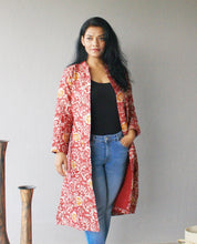 Load image into Gallery viewer, Pink Batik Silk Longline Jacket