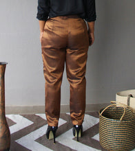 Load image into Gallery viewer, Copper and Black Brocade Pants