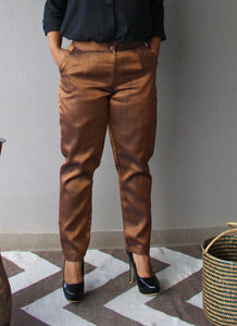 Copper and Black Brocade Pants