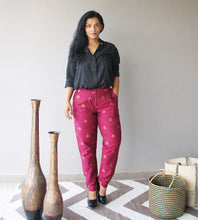 Load image into Gallery viewer, Burgundy Brocade Pants