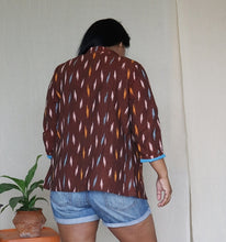 Load image into Gallery viewer, Rust Brown Ikat Handloom Cotton Jacket
