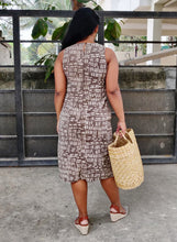 Load image into Gallery viewer, Beige Pure Cotton Dabu Printed Shift Dress