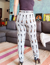 Load image into Gallery viewer, Ash Grey Ikat Slim Fit Pants