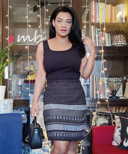 Load image into Gallery viewer, Black Handloom Cotton Embroidered Cotton Pencil Skirt