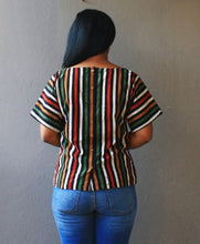 Load image into Gallery viewer, Multi Stripped Handloom Cotton Kimono Top