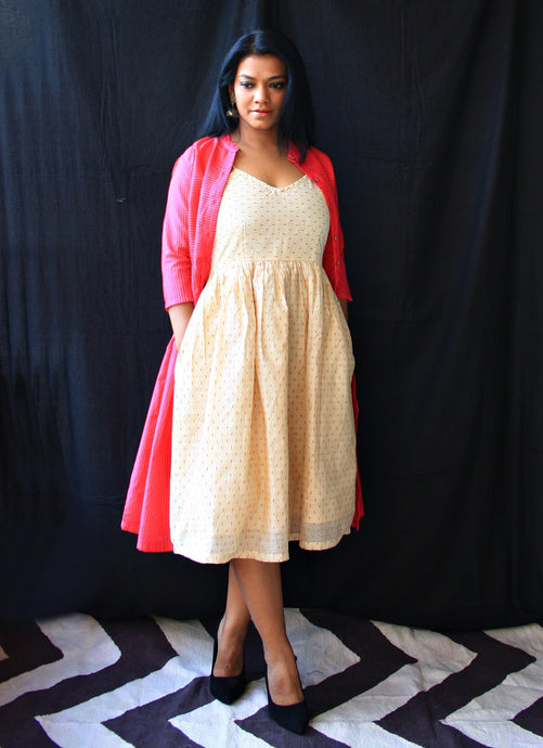Pink and Cream Set of Dresses