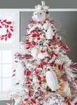Flocked Lighted Pine Tree (7.5 Feet)