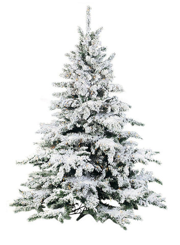 Flocked Lighted Pine Tree (9 Feet)