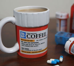 The Prescription Coffee Mug, Ceramic, Funny Gift for the Caffeine Lover - Shop AWESOME!