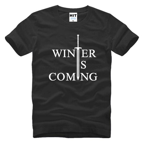Game of Thrones Winter Is Coming Letter Printed Men's T-Shirt