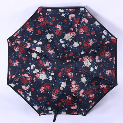 Windproof Reverse Folding Double Layer Inverted Umbrella - Shop AWESOME!