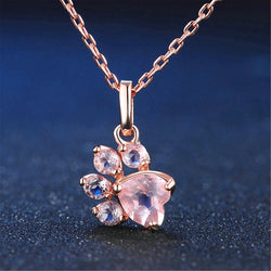 Rose Gold Paw Necklace - Shop AWESOME!