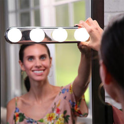 4 Bulb Hollywood LED Makeup Mirror Light - Shop AWESOME!