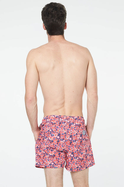 Short de bain Flower Rouge
