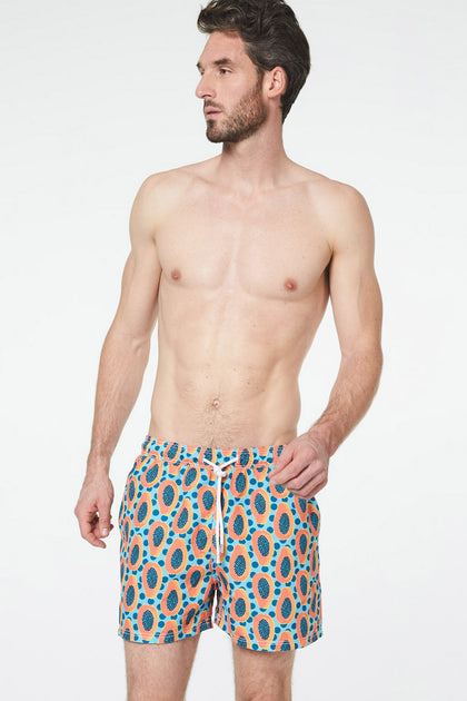 Short de bain Papaye Orange