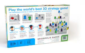 Four-player game in progress with box and instructions