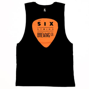 Tank Unisex Black and Orange L