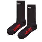 999 NO VANITY SOCKS - BLACK - JuiceWrld