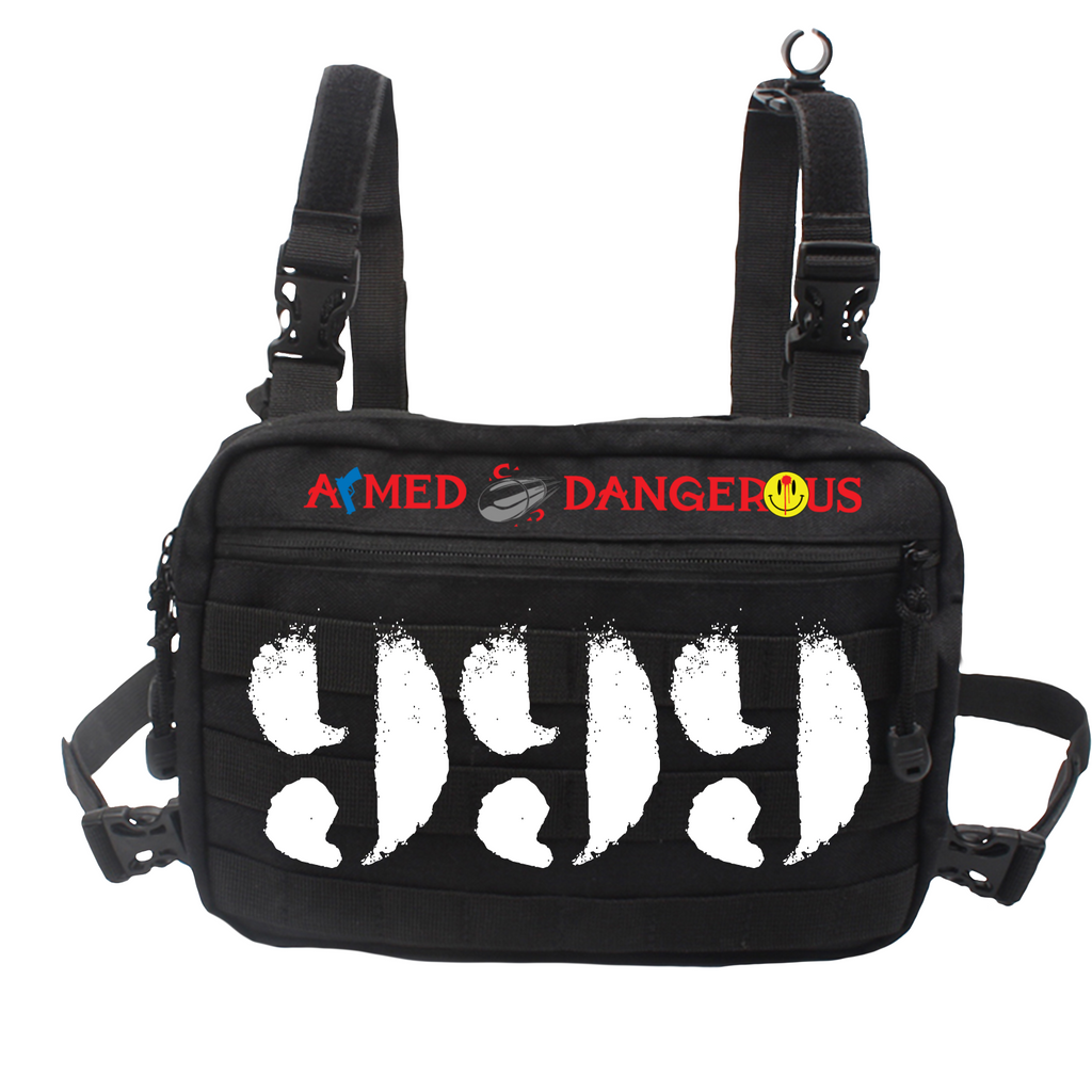 LIMITED EDITION ARMED & DANGEROUS CHEST RIG - BLACK