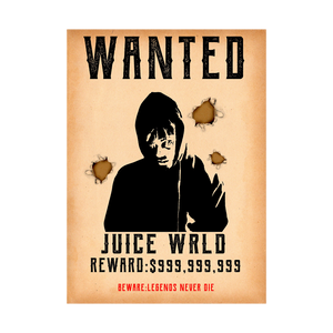 999 Wanted Poster + Digital Album - JuiceWrld
