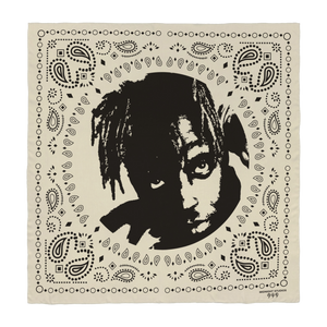 Juice WRLD X Midnight Studios Silhouette Bandana in Cream + Digital Album - JuiceWrld