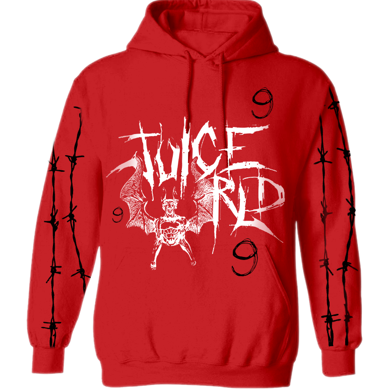 SHADOWS IN MY ROOM HOODIE - RED - JuiceWrld