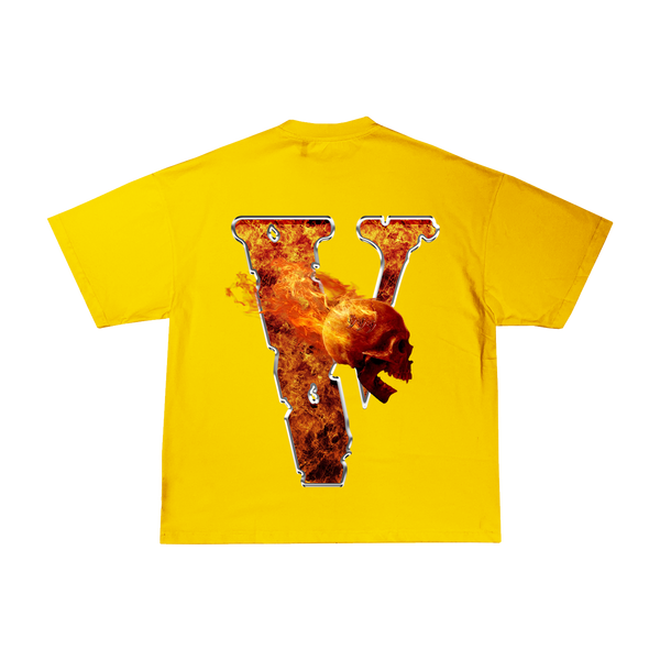 Juice WRLD X VLONE Inferno Tee in Yellow + Digital Album - JuiceWrld